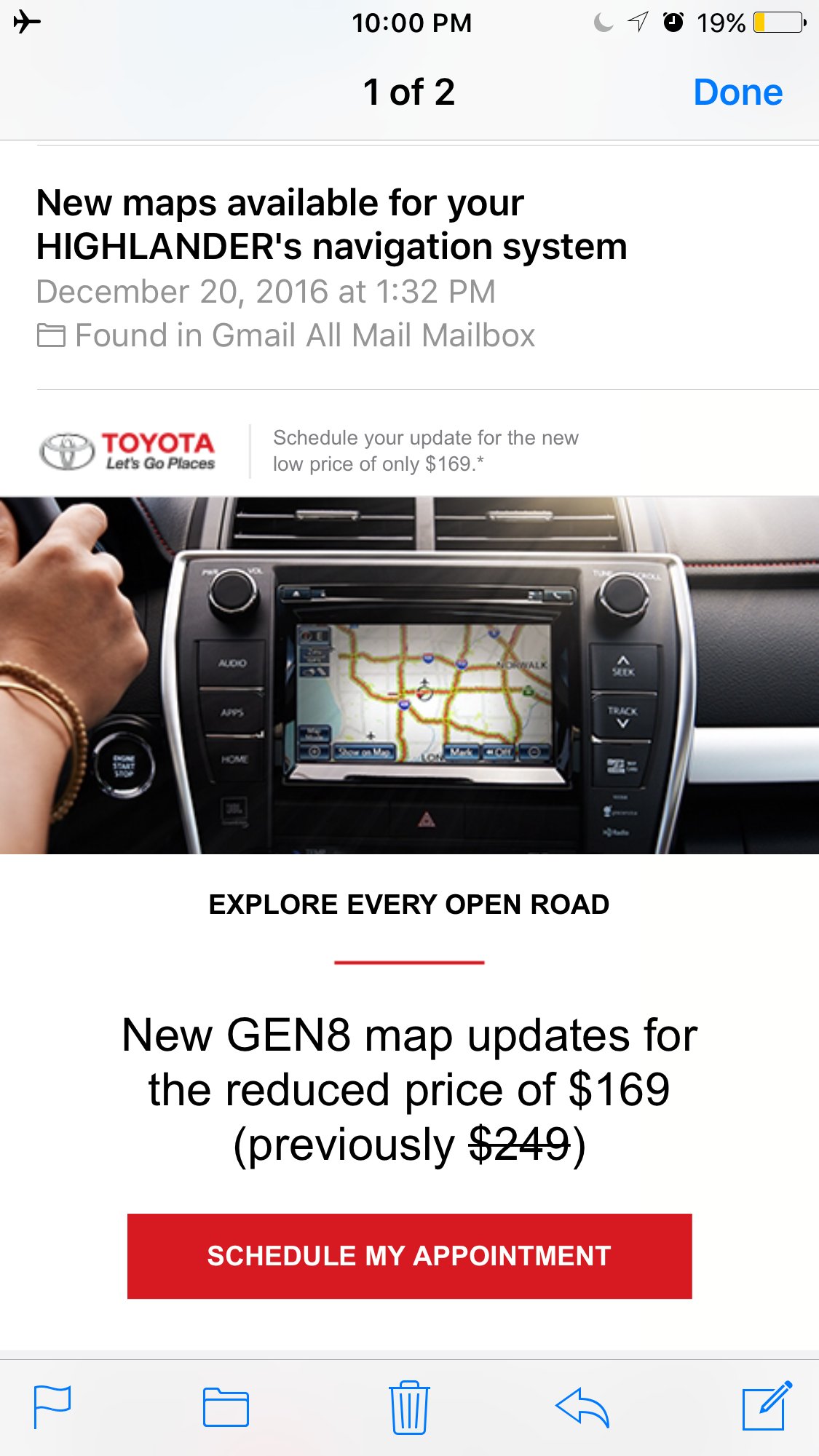 Maps Update email