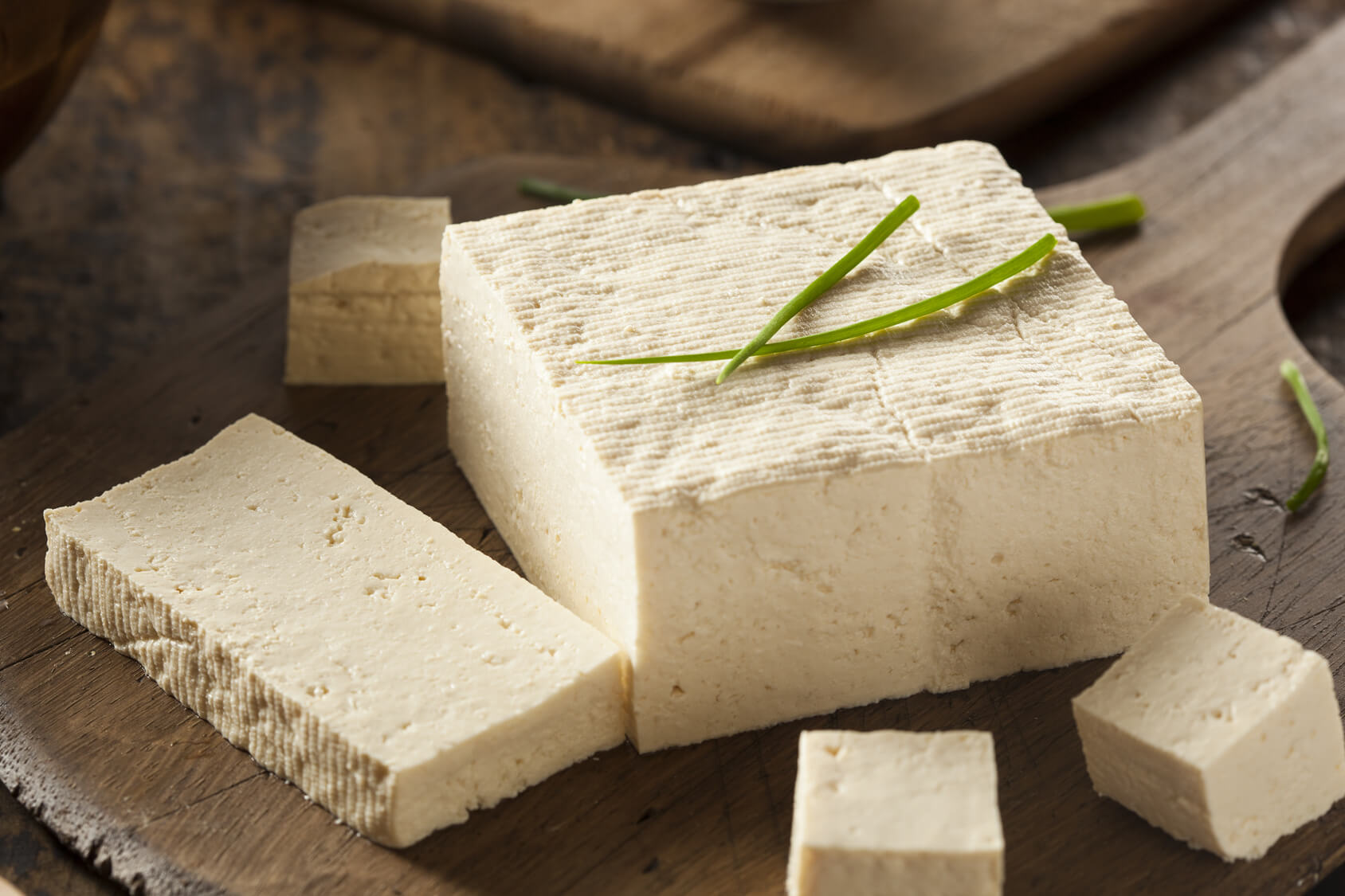 Tofu is made from soya beans