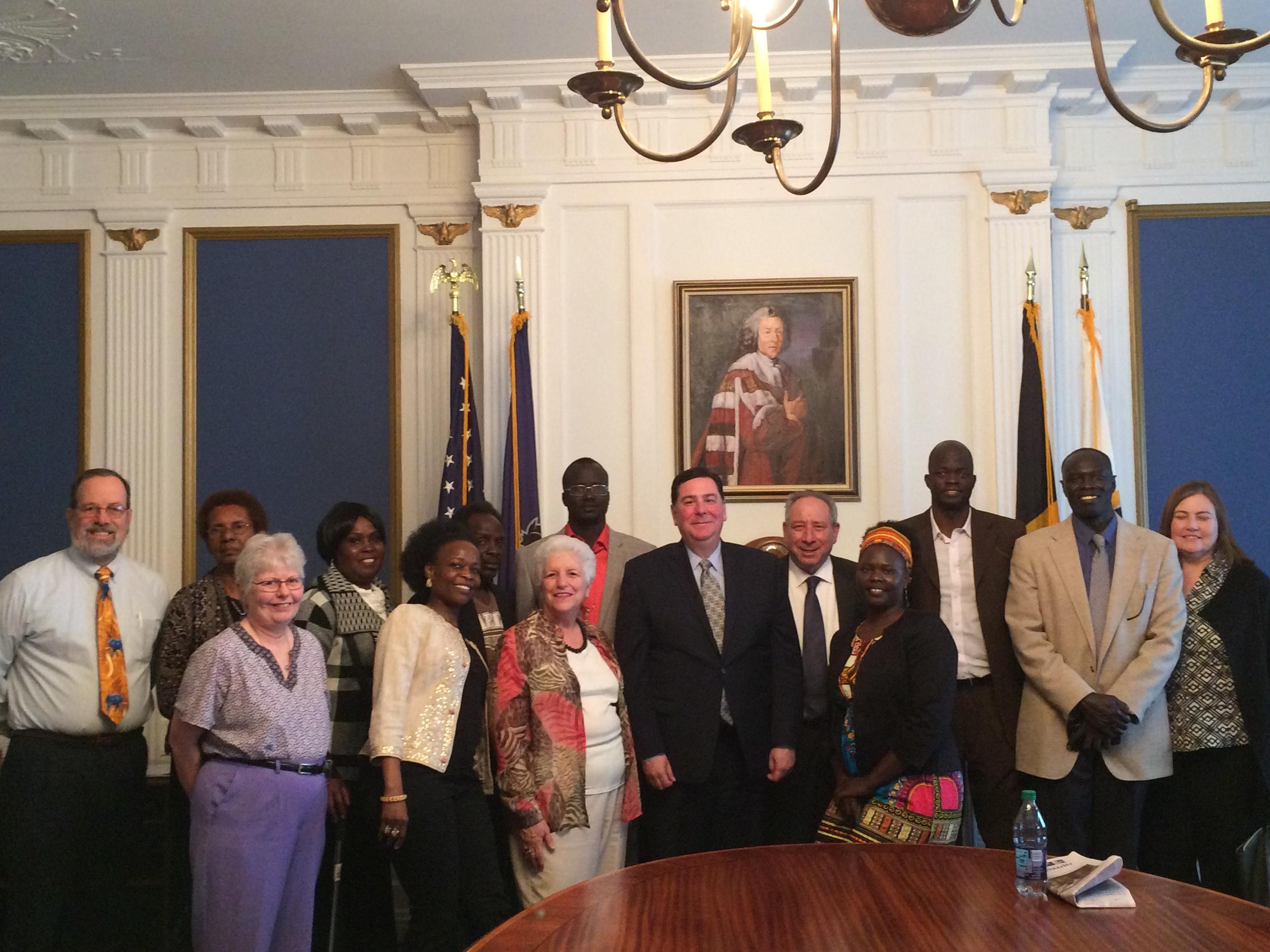Meeting with Mayor Peduto