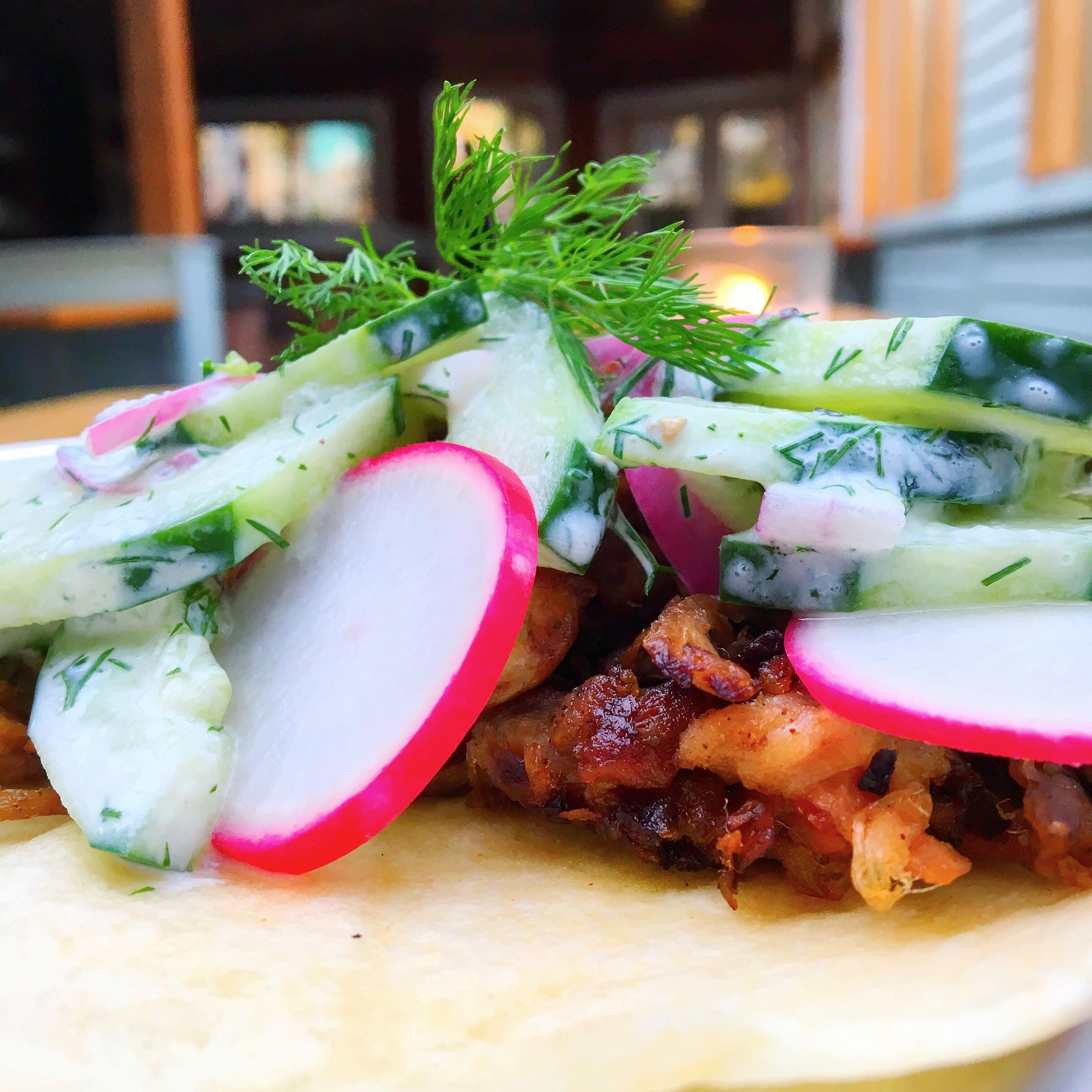 Slow Smoked Pork Shoulder Taco with Polish Mizeria Salad.jpg
