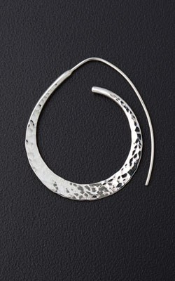 Deborah Richardson - Concord, MA.  Hand-soldered sterling silver earrings.