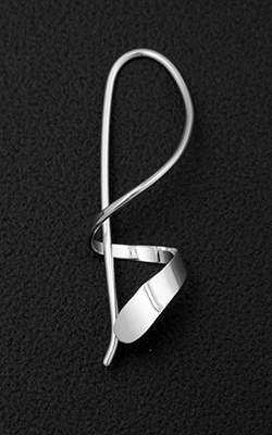 Deborah Richardson - Concord, MA.  Hand-soldered sterling silver earrings.