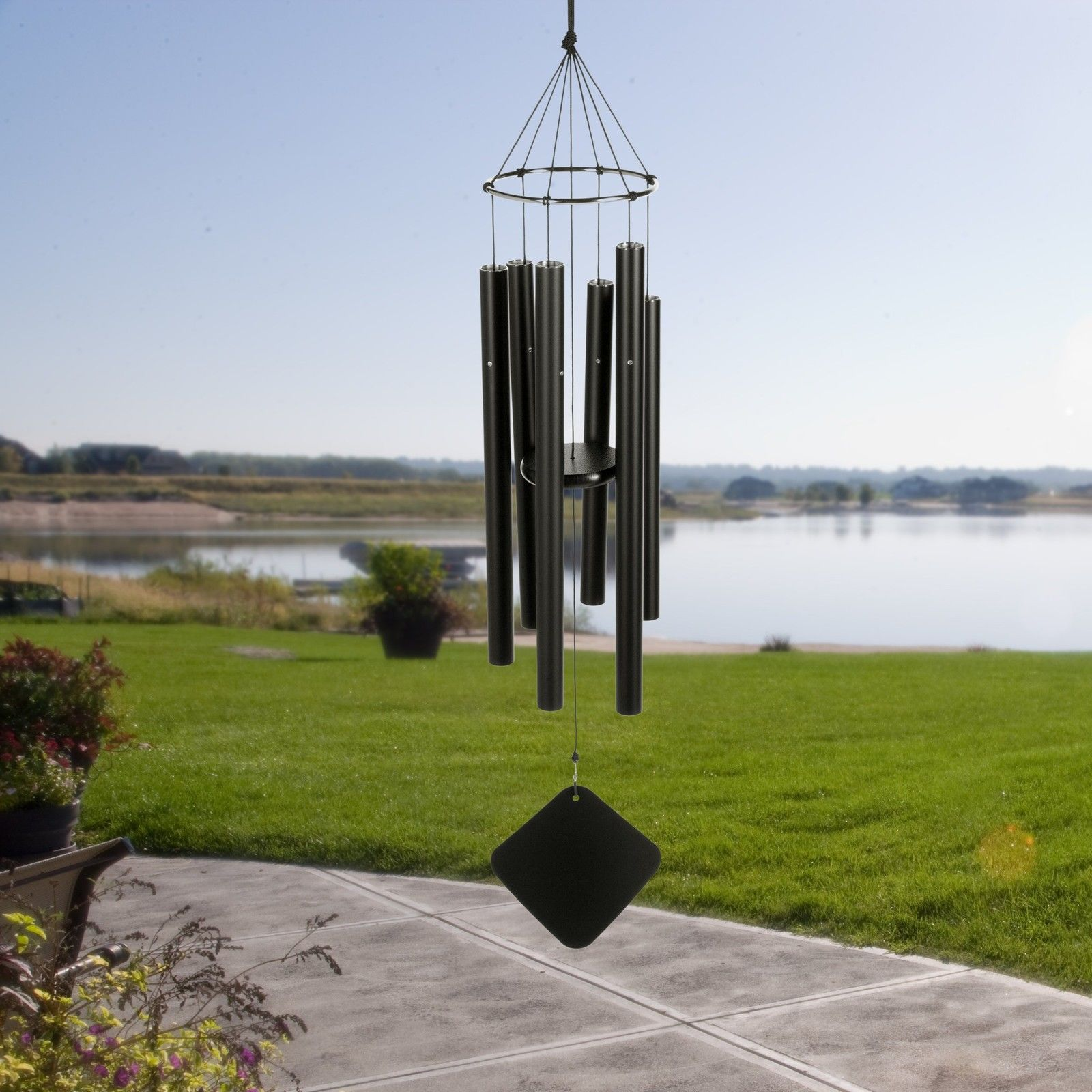 Music of the Spheres - Austin, TX.  Tempered aluminum chimes treated to avoid rust & corrosion, designed to last in a variety of climate conditions. Available in a number of specific scales, including Mongolian, Hawaiian, Pentatonic, Nashville, Japanese, & many more.