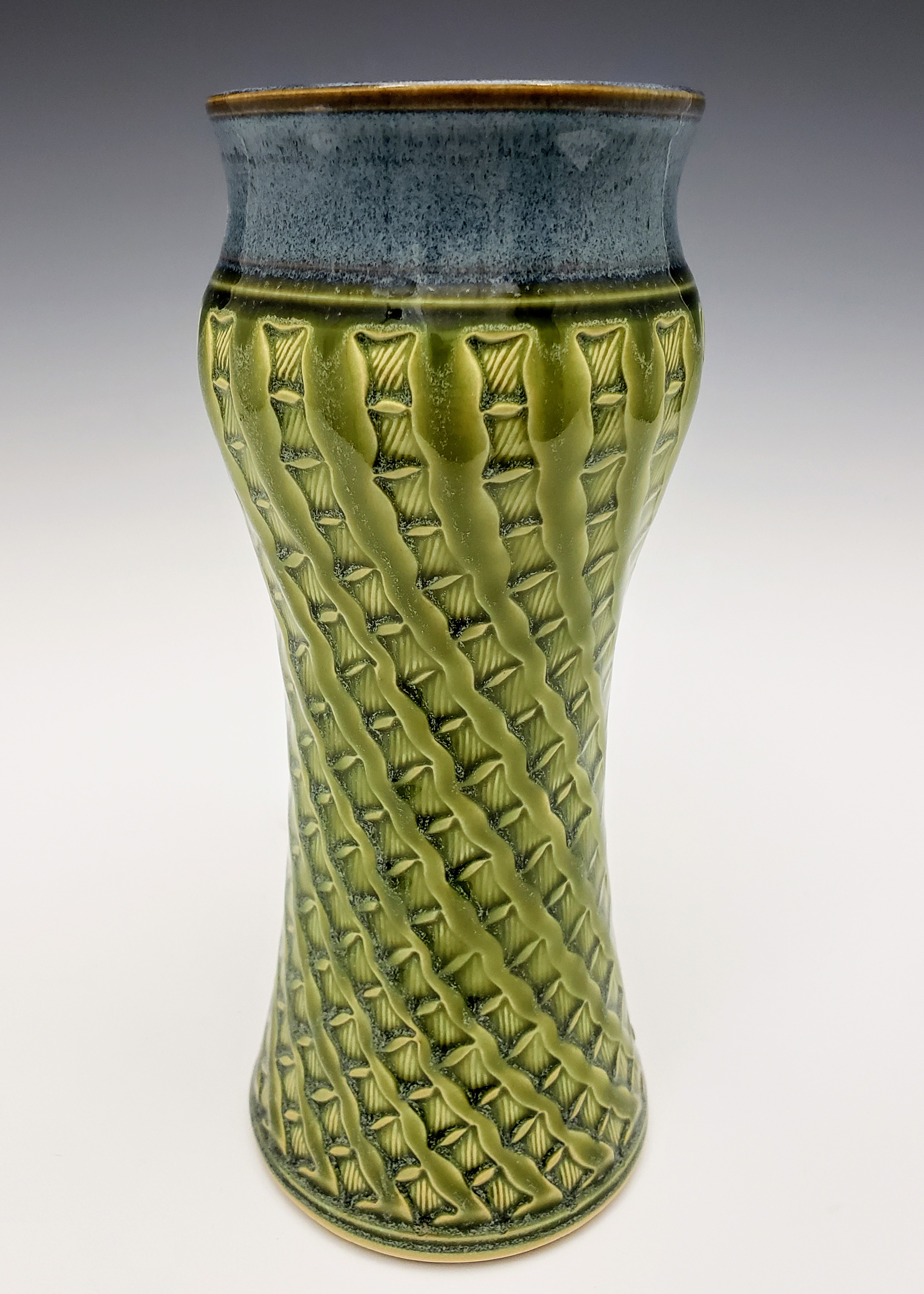Lg Amphora Vase with bamboo design.jpg