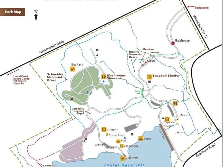 Map of Camp K
