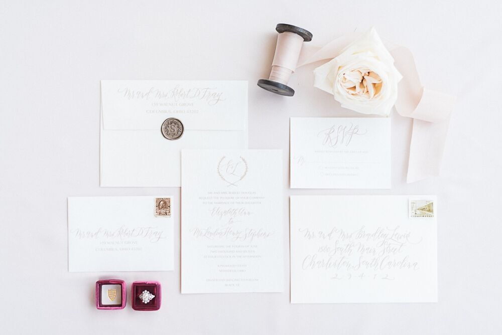 Erica Hammer Calligraphy Invitation Suite, Photo: Ashley Link Photography