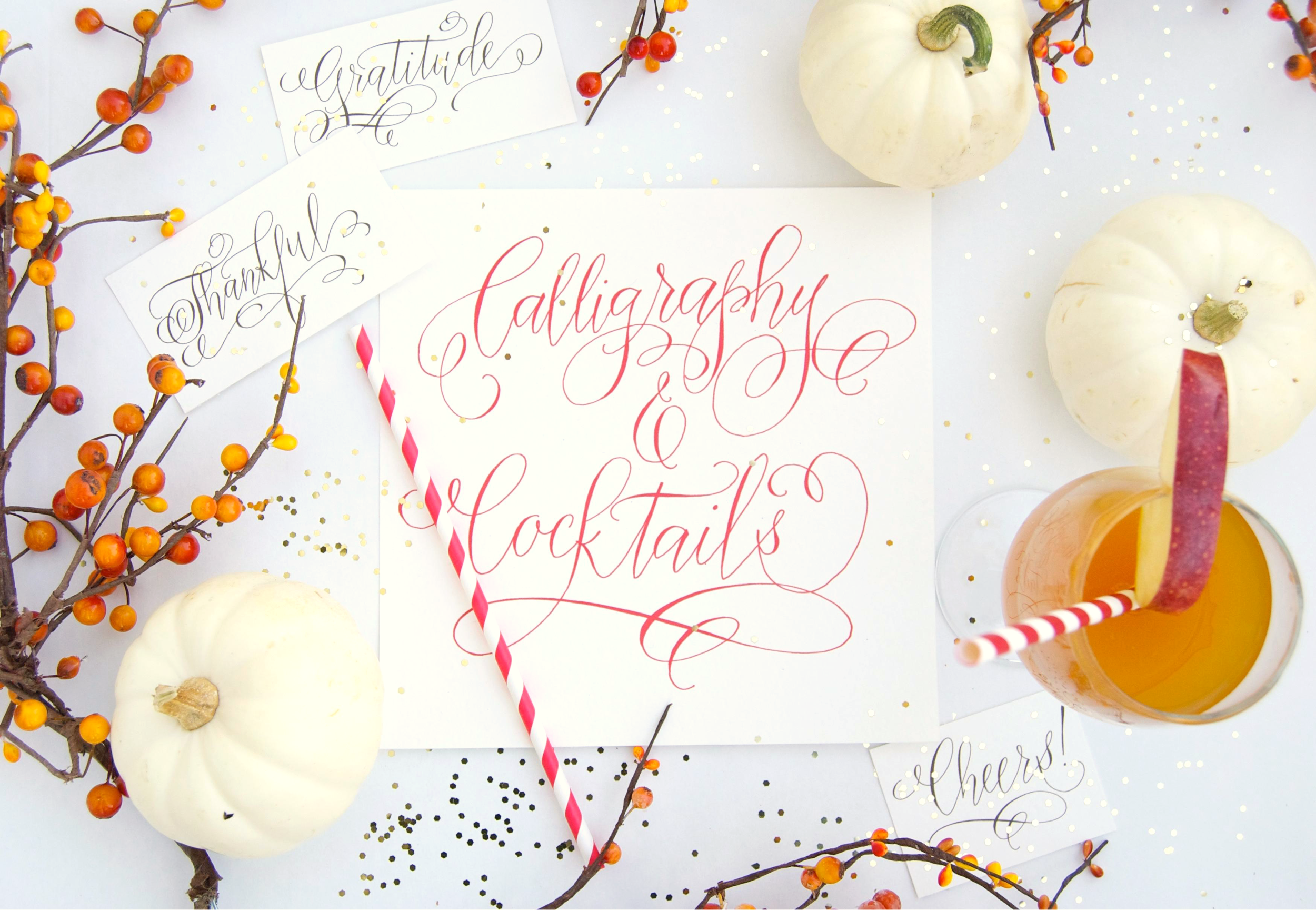 Calligraphy and Cocktails Workshop by Erica Hammer Calligraphy