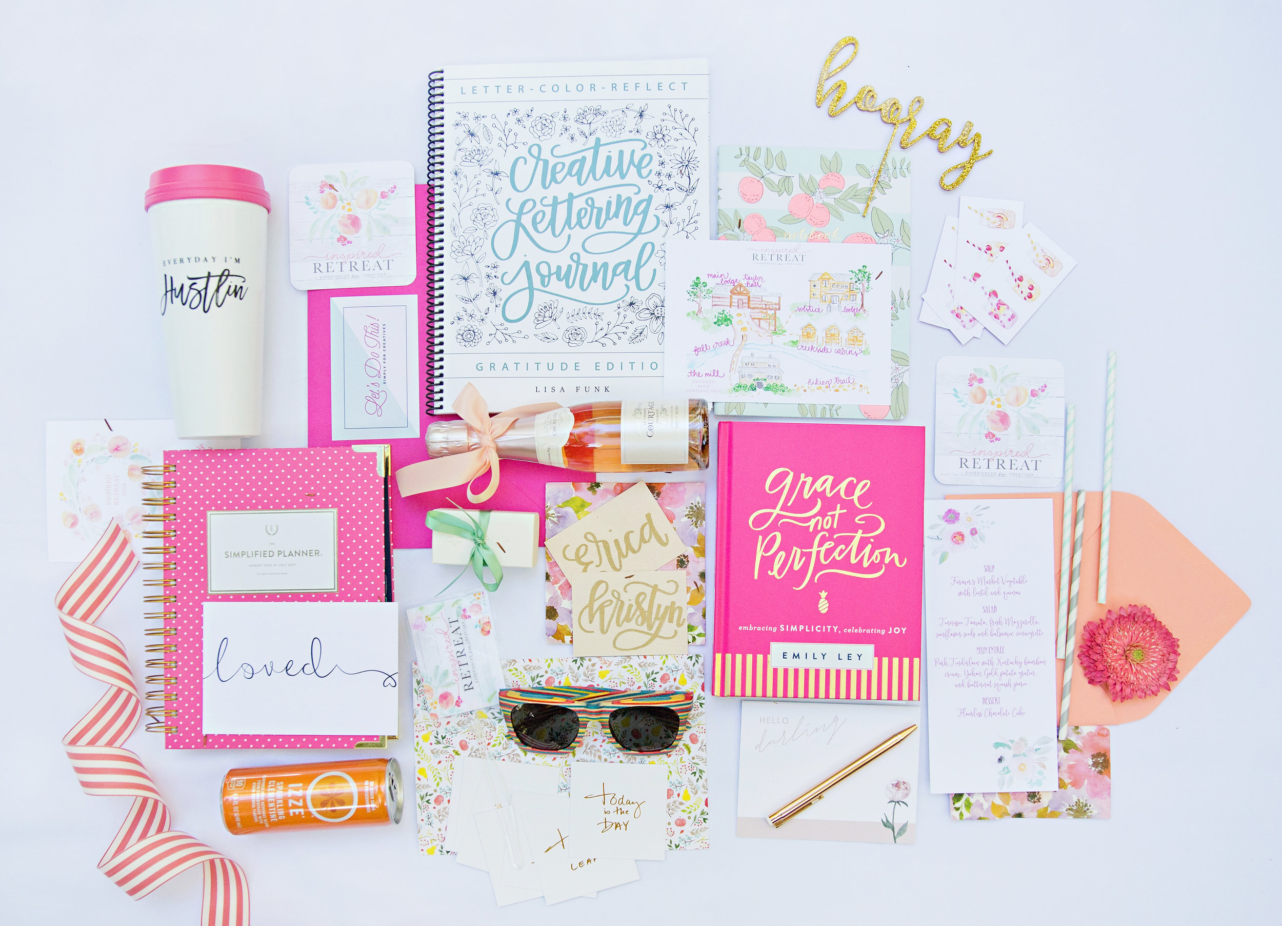Swag Bag Inspired Retreat Emily Ley Simplified Planner and Grace Not Perfection