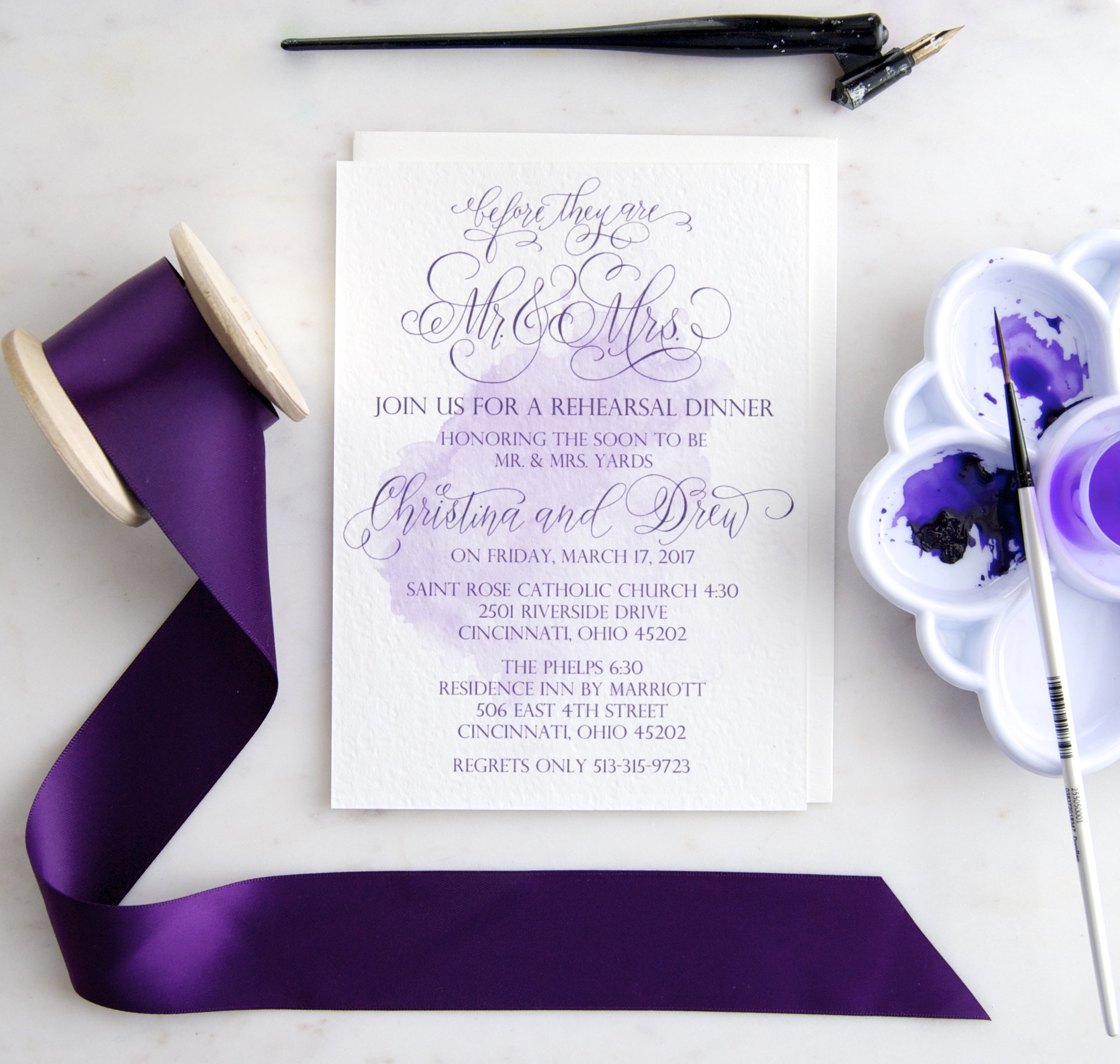 Before they are Mr. and Mrs. Rehearsal Dinner Invitation