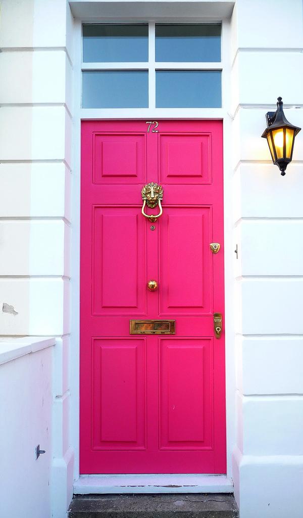 stylish hot pink door
