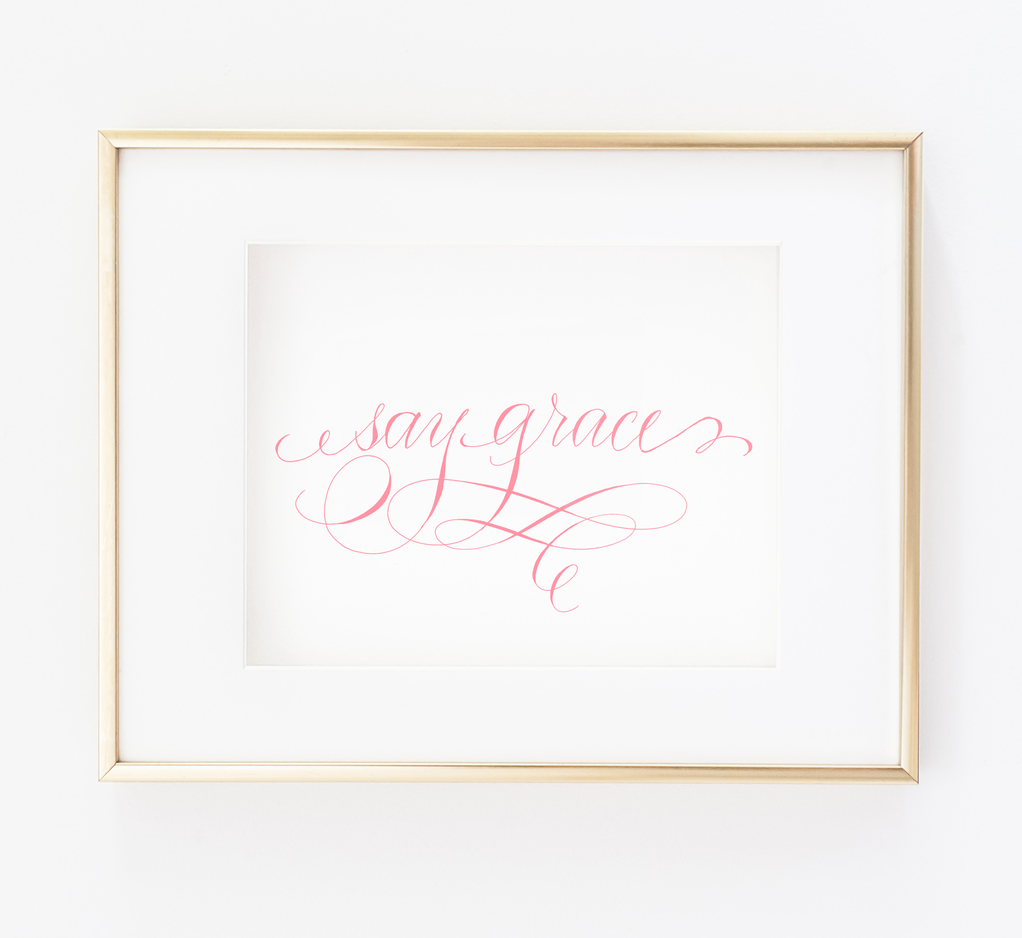 Say Grace Printable Calligraphed kitchen art