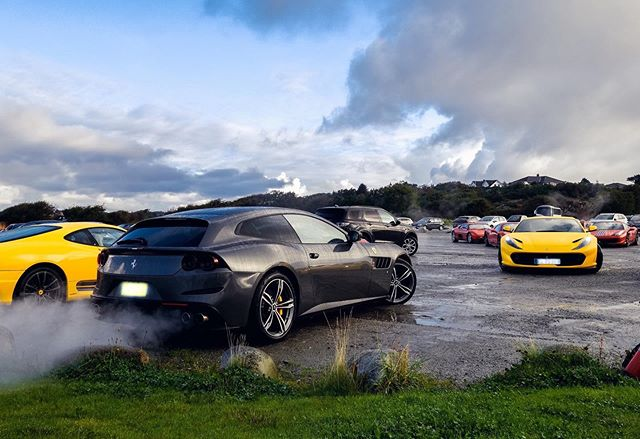 The occasional damp weather did not spoil the fun 🌦  #FerrariNordicMeeting #FerrariClubNorway