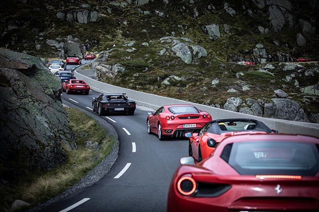 What a sight 😍 #FerrariNordicMeeting #FerrariClubNorway