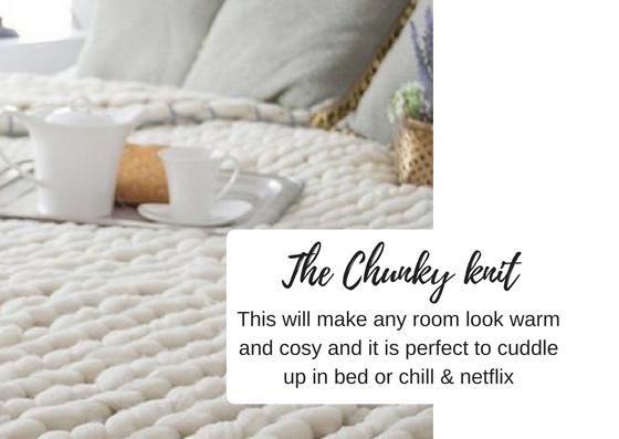 Chunky knit blanket christmas gift ideas - black milk women