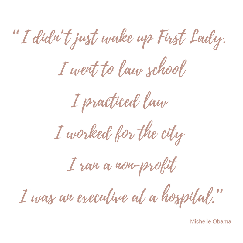 Michelle Obama  quotes on working hard and being a first lady - Black Milk Women