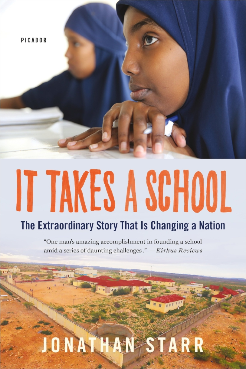 It Takes a School is the story of how an abstract vision became a transformative reality, as Starr set out to build a school in a place forgotten by the world. It is the story of a skeptical and clan-based society learning to give way to trust. And it's the story of the students themselves, including a boy from a family of nomads who took off on his own in search of an education and a girl who waged a hunger strike in order to convince her strict parents to send her to Abaarso.