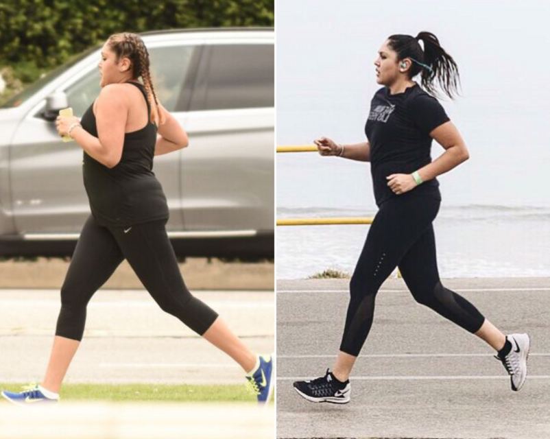 Left: Aug 2015  - my first Nike Run Club,  Right: July 2016  - Long Run with Nike Run Club