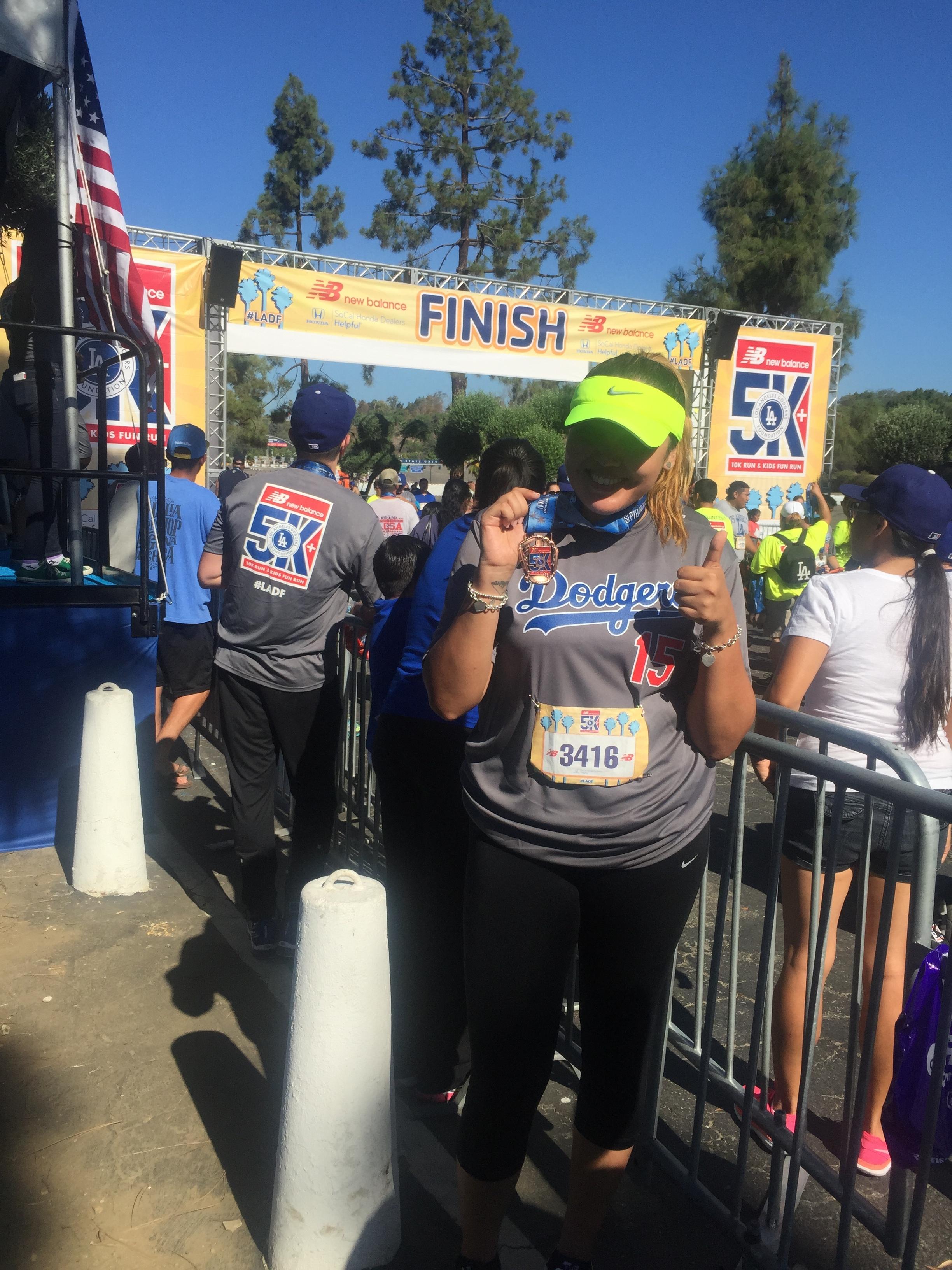 September 13, 2015 - My very first race, LA Dodgers Foundation 5K