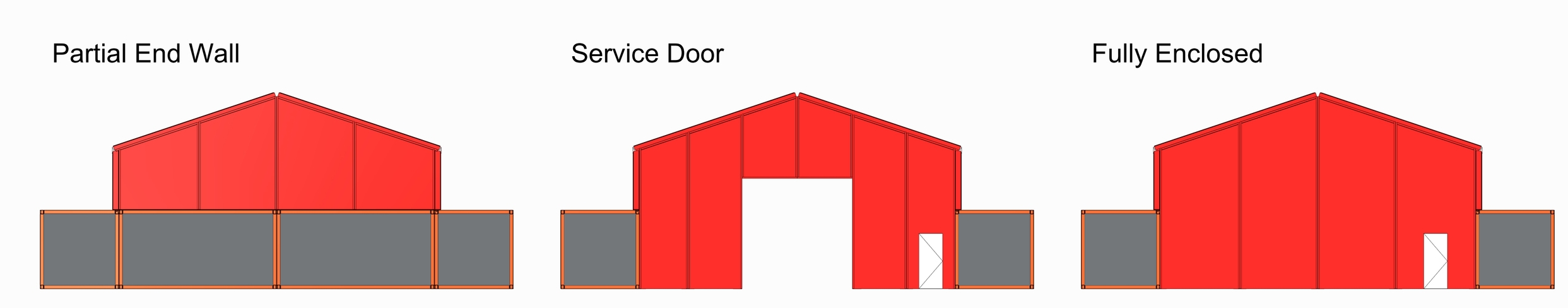 (End wall may be enclosed with Cubes)