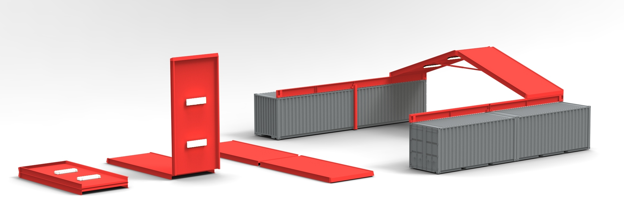 Standard ConTEMProof features Galvalume cladding with gray epoxy coated steel frames. Red shown for product emphasis. Color ConTEMProof available upon request.