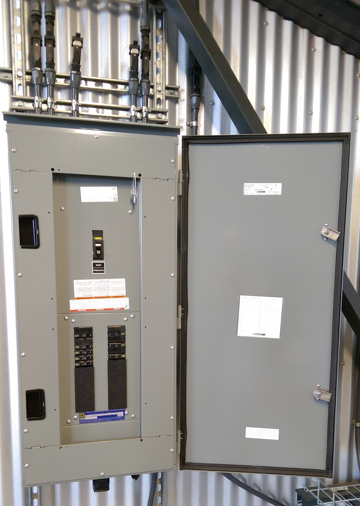 Powered Structures distribution panel