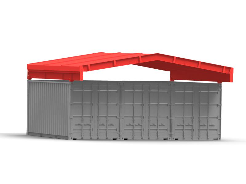 Roof system for three ISO containers