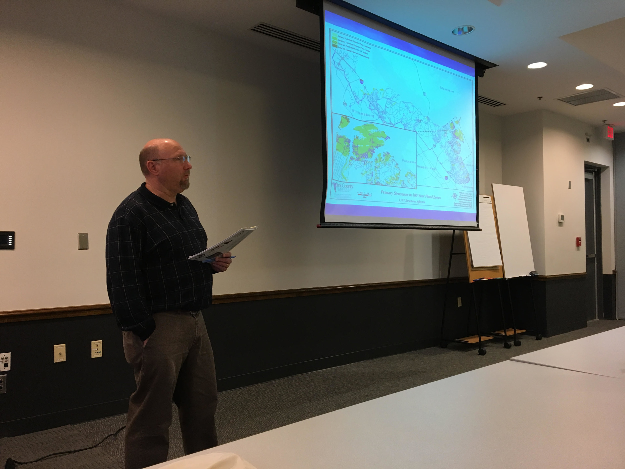 Kent Henkle, York County, presents on a recent CRS Cycle Visit with ISO