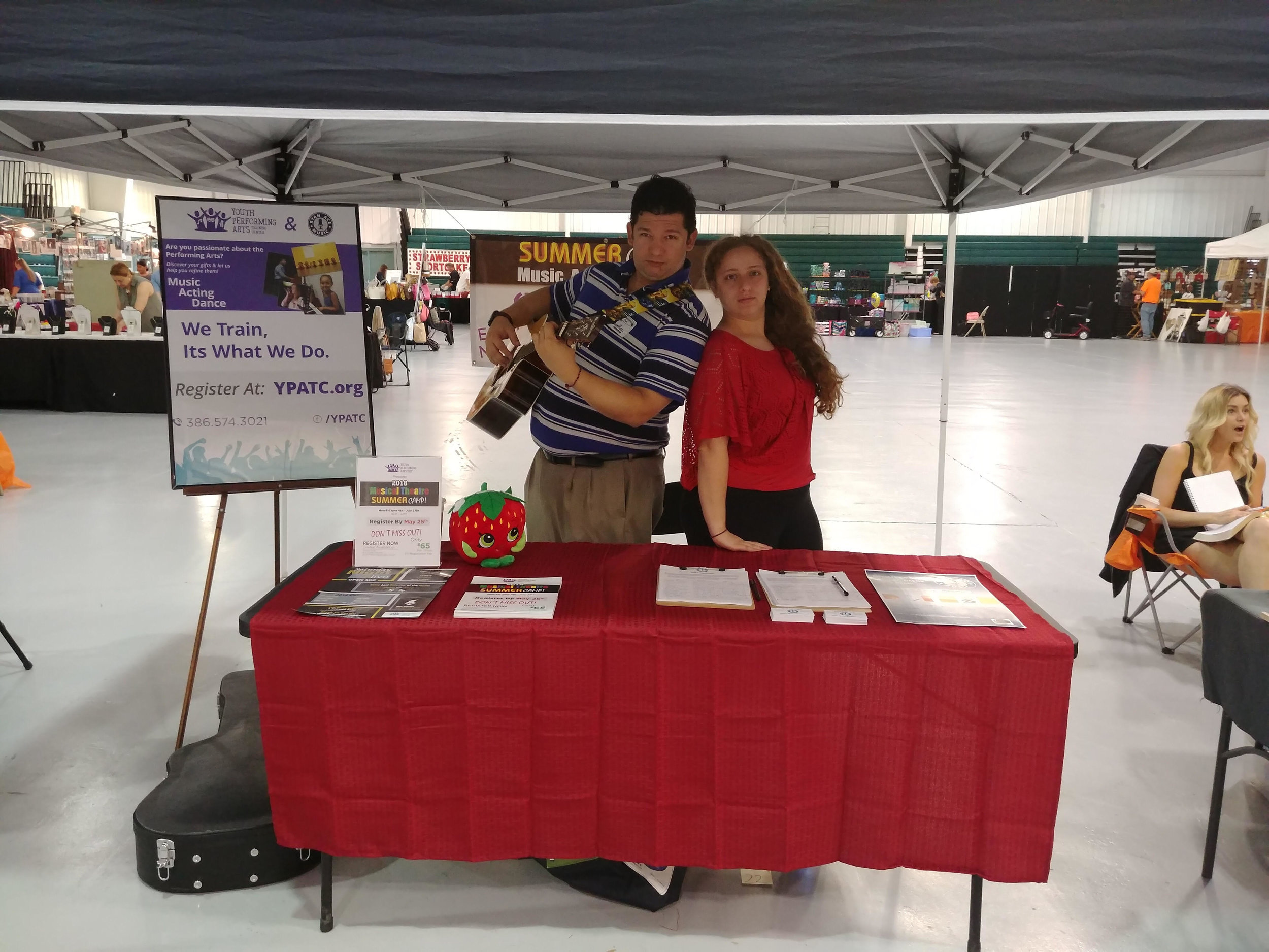 Did you see us? - Ryan Ace Music and the group were at the Strawberry Fest this past weekend!