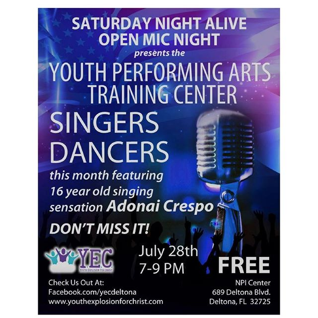 Join us tonight for the Saturday Night Alive Open Mic Night! #YEC #YPATC #RyanAceMusic