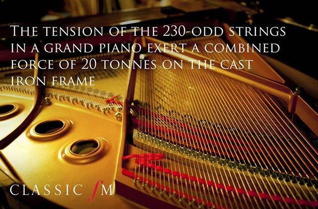 What an interesting fact about pianos! #ClassicFM #RyanAceMusic