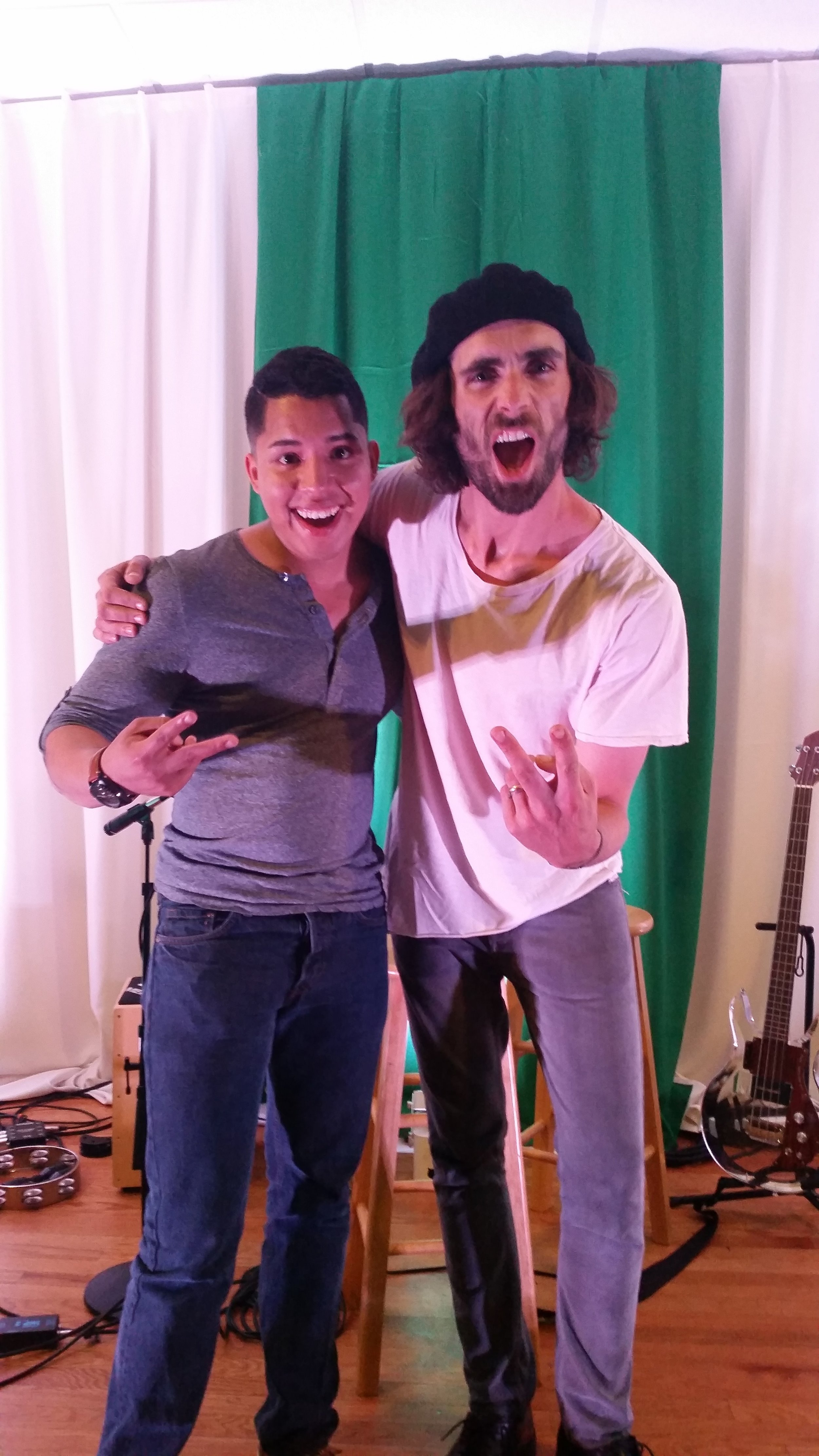 Ryan performed guitar and sang with Tyson Ritter (2015)