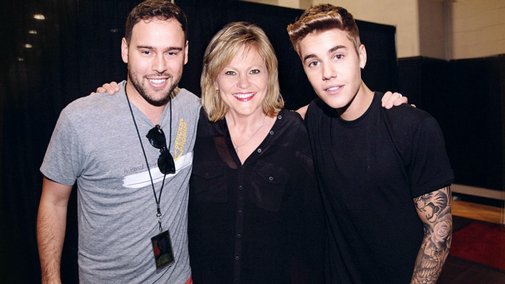 Scooter Braun (Justin Bieber's Manager), Jan Smith (Vocal Coach), and Justin Bieber