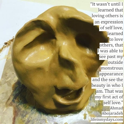 A clay face melts away in anguish, the end of a scream on its face.