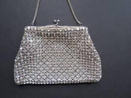 Art Deco Rhinestone Handbag from Etsy