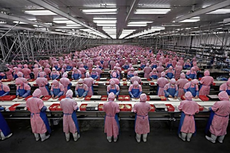 Factory workers in China.