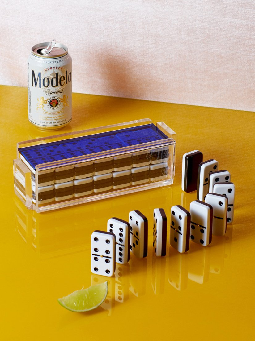 Dominoes Set with Spinners, Coming Soon, $180
