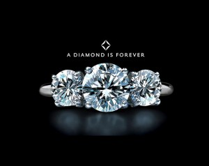 "One of the best known advertising slogans, ""A Diamond is Forever""."