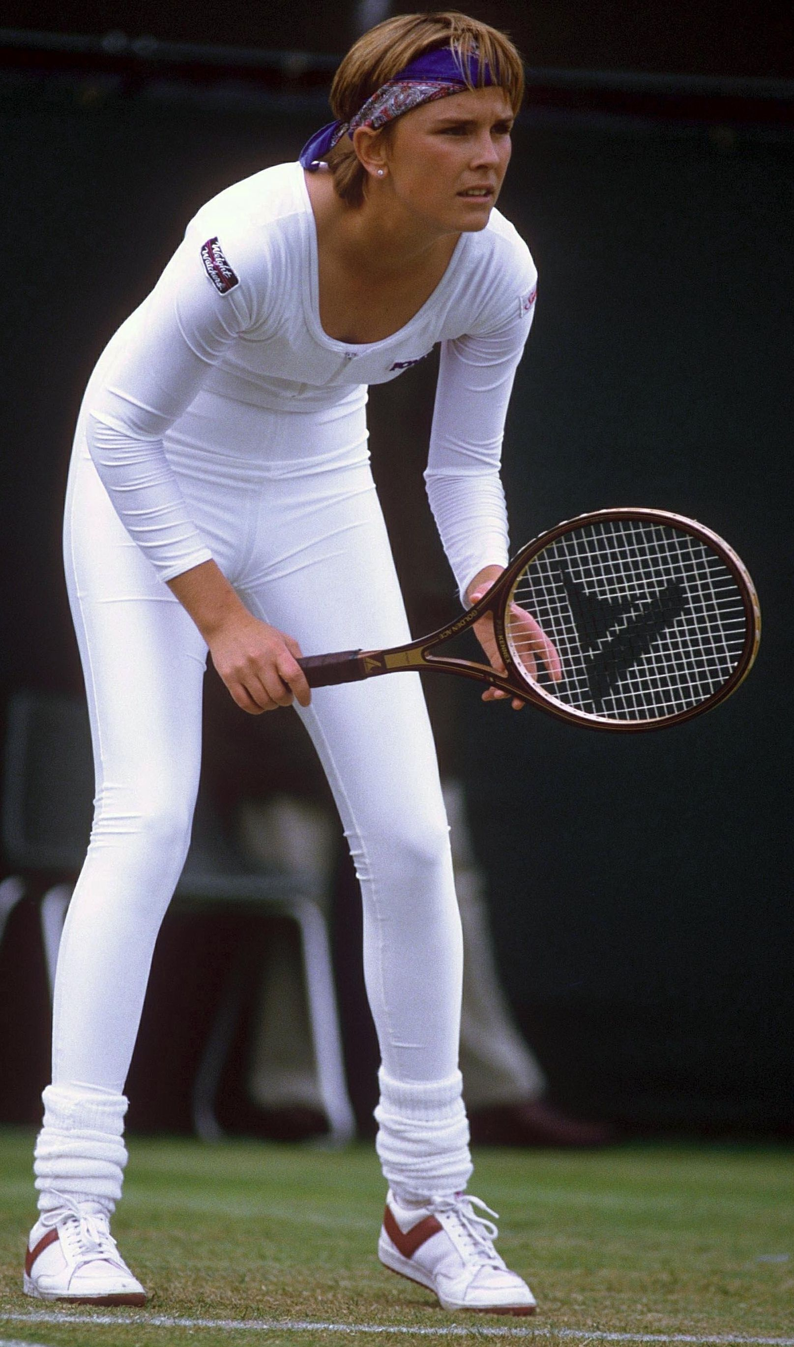 Wimbledon judges were not feeing Anne White's white catsuit in 1985.