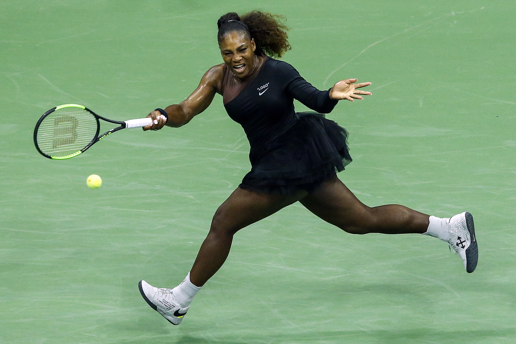 Serena's debut tennis tutu for the 2018 US Open was right on point.