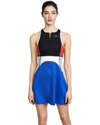 High end designers such as Stella McCartney have collaborated with large sports wear brands such as Adidas to create fashionable tennis dresses so amazing you want to wear them off the court too.