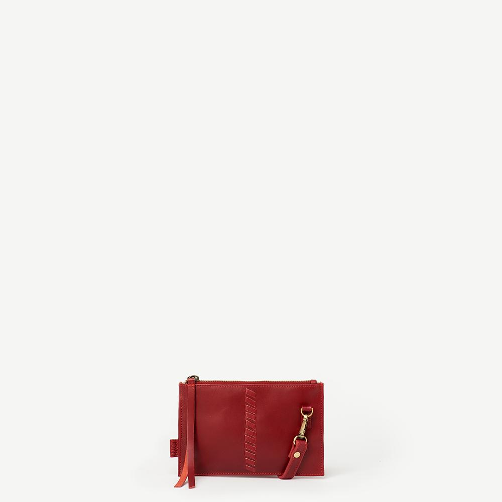 KYRA HOLIDAY FLOWERS RED LEATHER CROSSBODY WALLET, $108