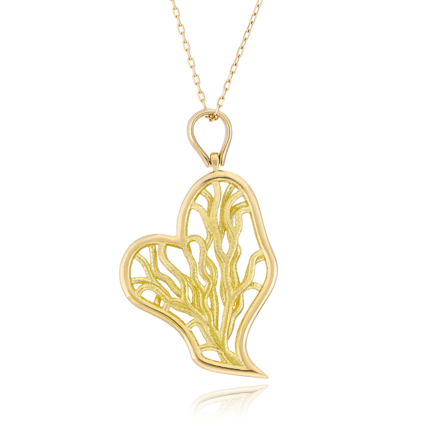 VITAE ASCENDERE MELTING HEART CHARM NECKLACE, $580 at Atelier d'Emotion