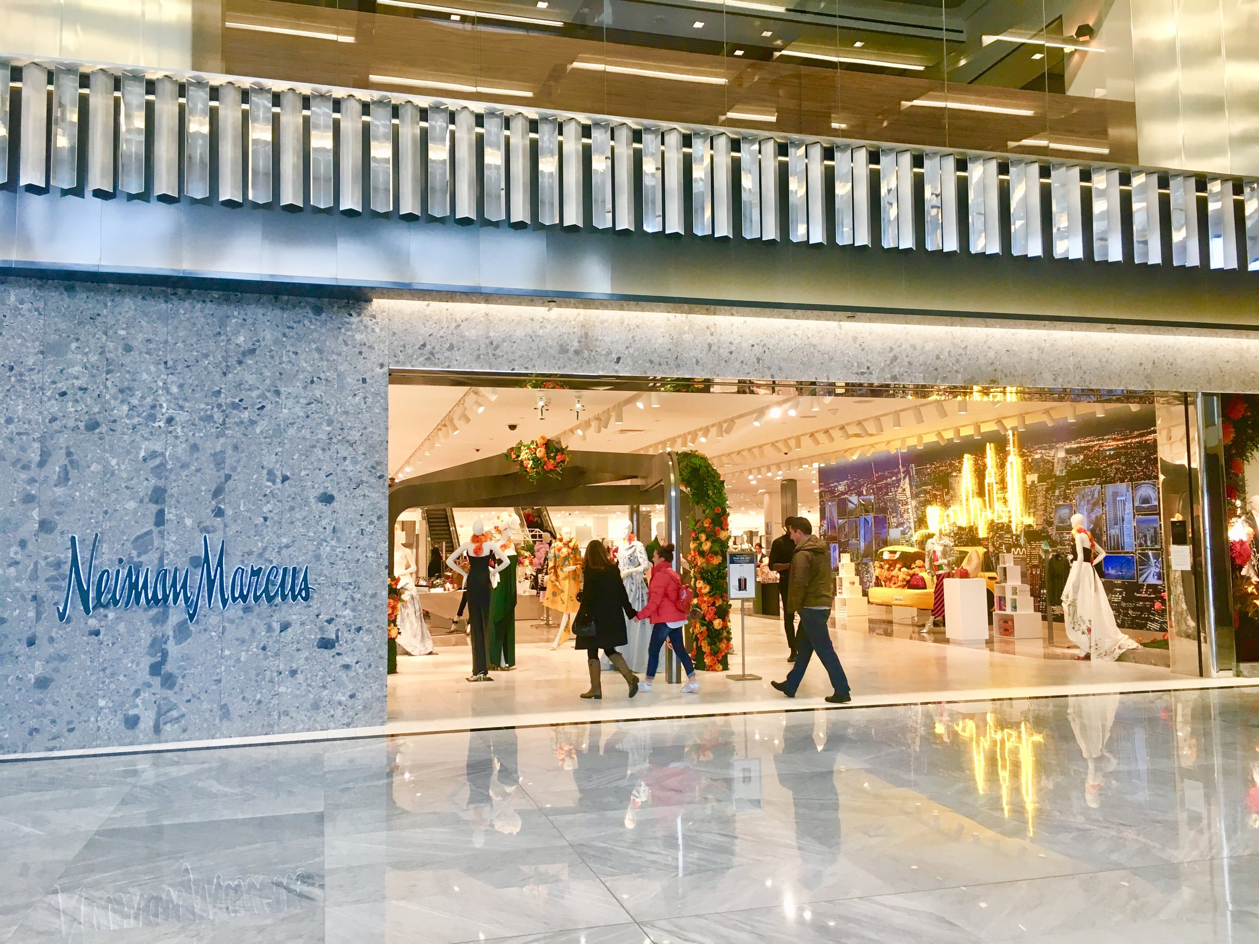 Neiman Marcus is the dominant department store at Hudson Yards, located on the third floor.