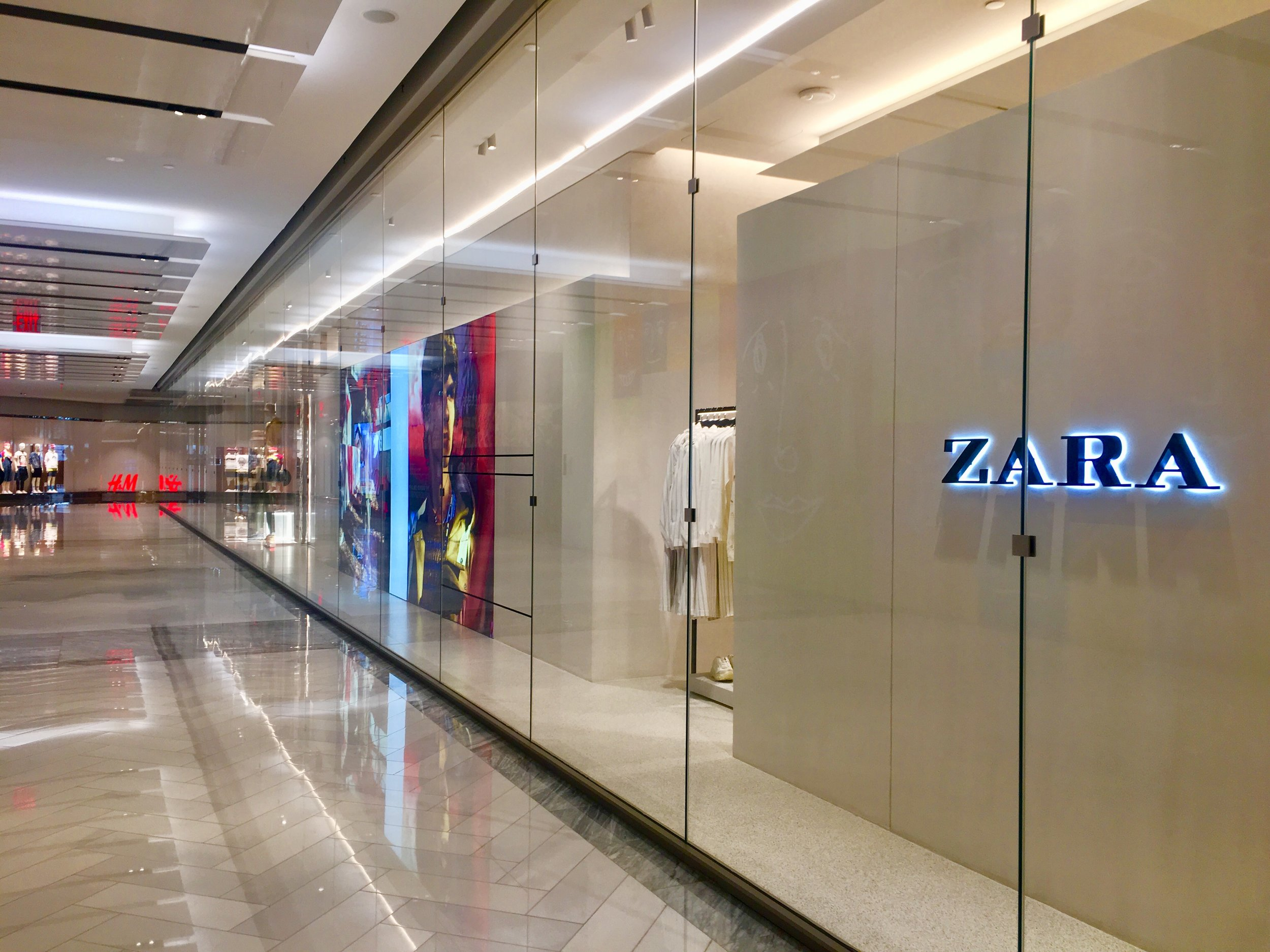 Zara and H&M are some of the affordable stores you will find at Hudson Yards.