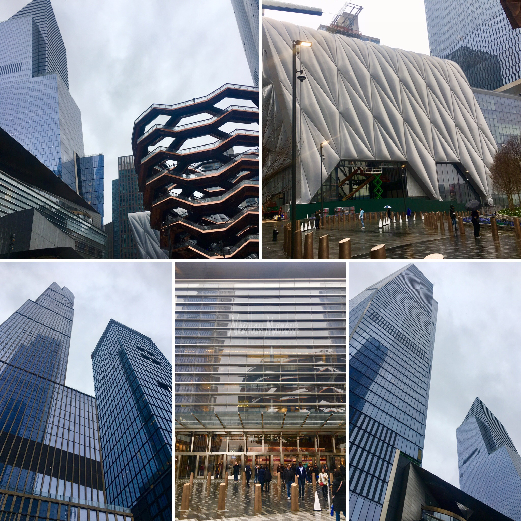Hudson Yards include a complex of residences, office buildings, shops and The Equinox Hotel.