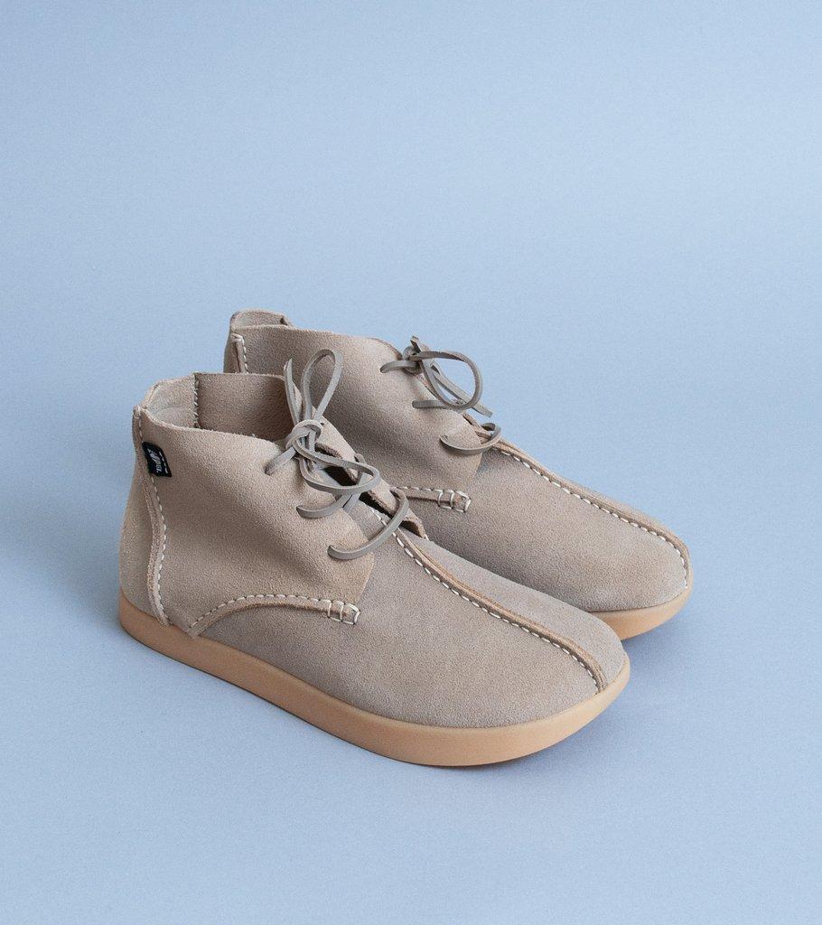 "C'H'C'M', Yogi, ""Elijah Negative Heel Boot'"" (Oatmeal Suede), $210"