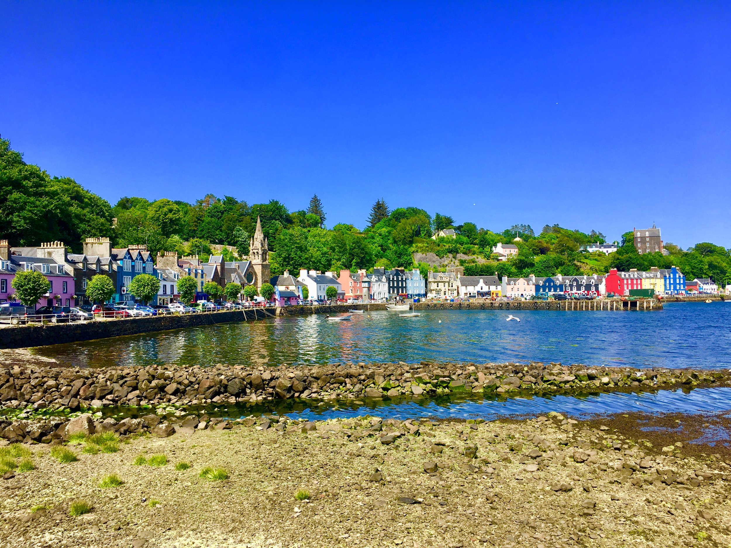 The picturesque town of Tobermory on the Isle of Mull, Scotland.
