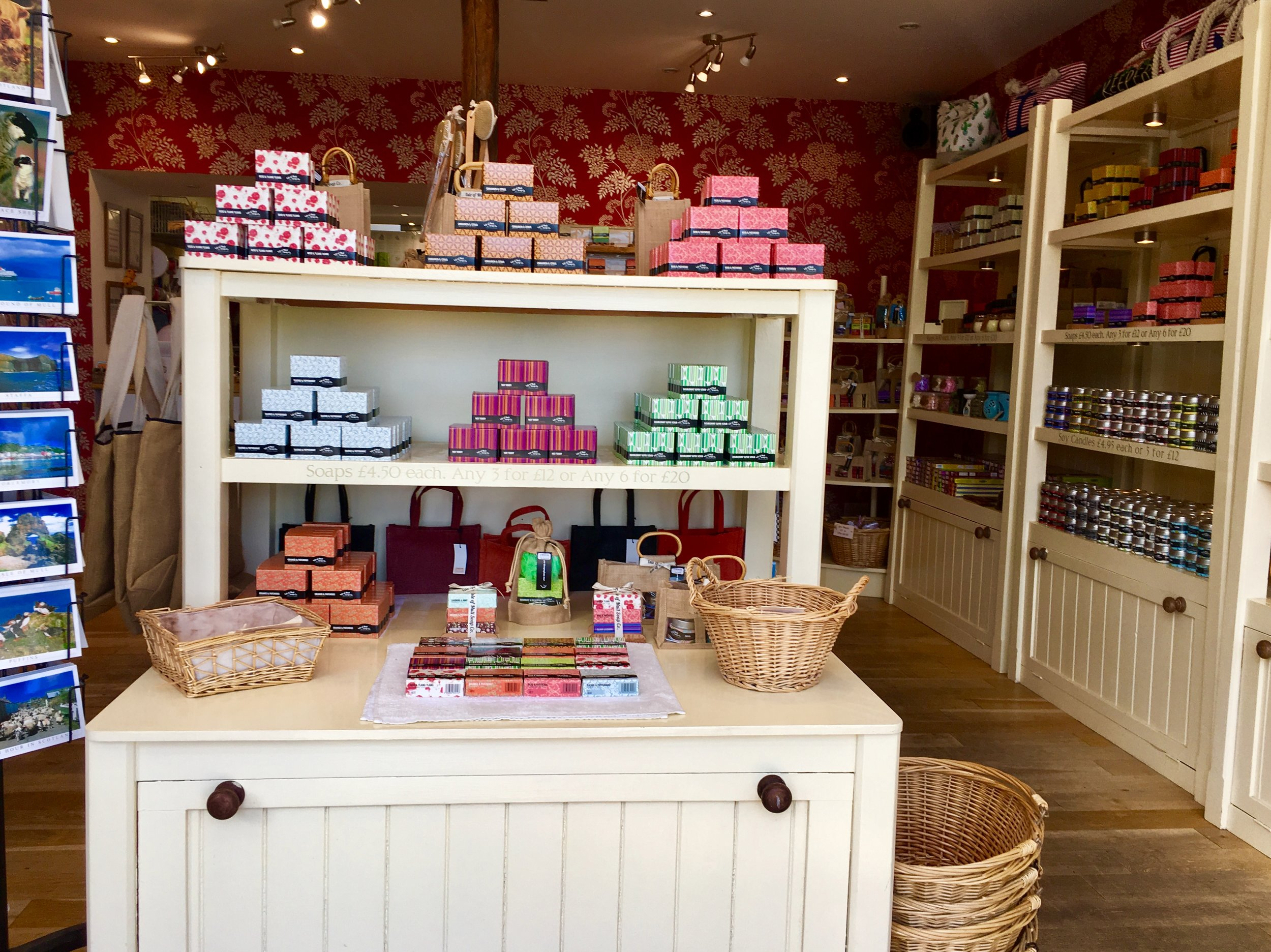 Isle of Mull Soap Co. has a large selection of soap and bath products.