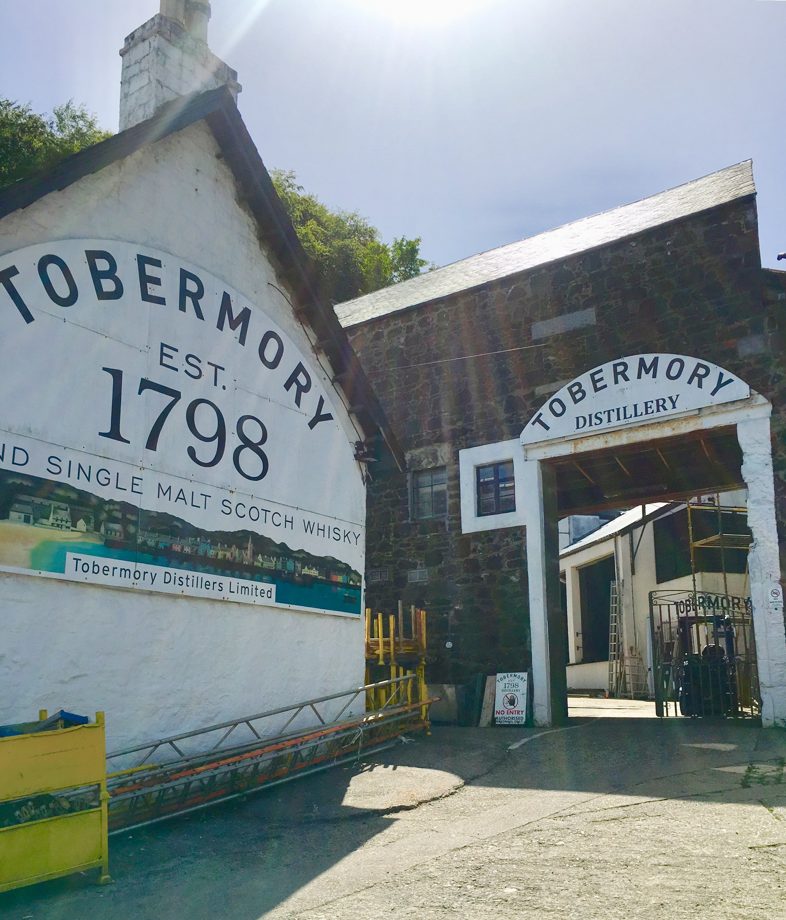 Tobermory Distillery, where the magic happens.