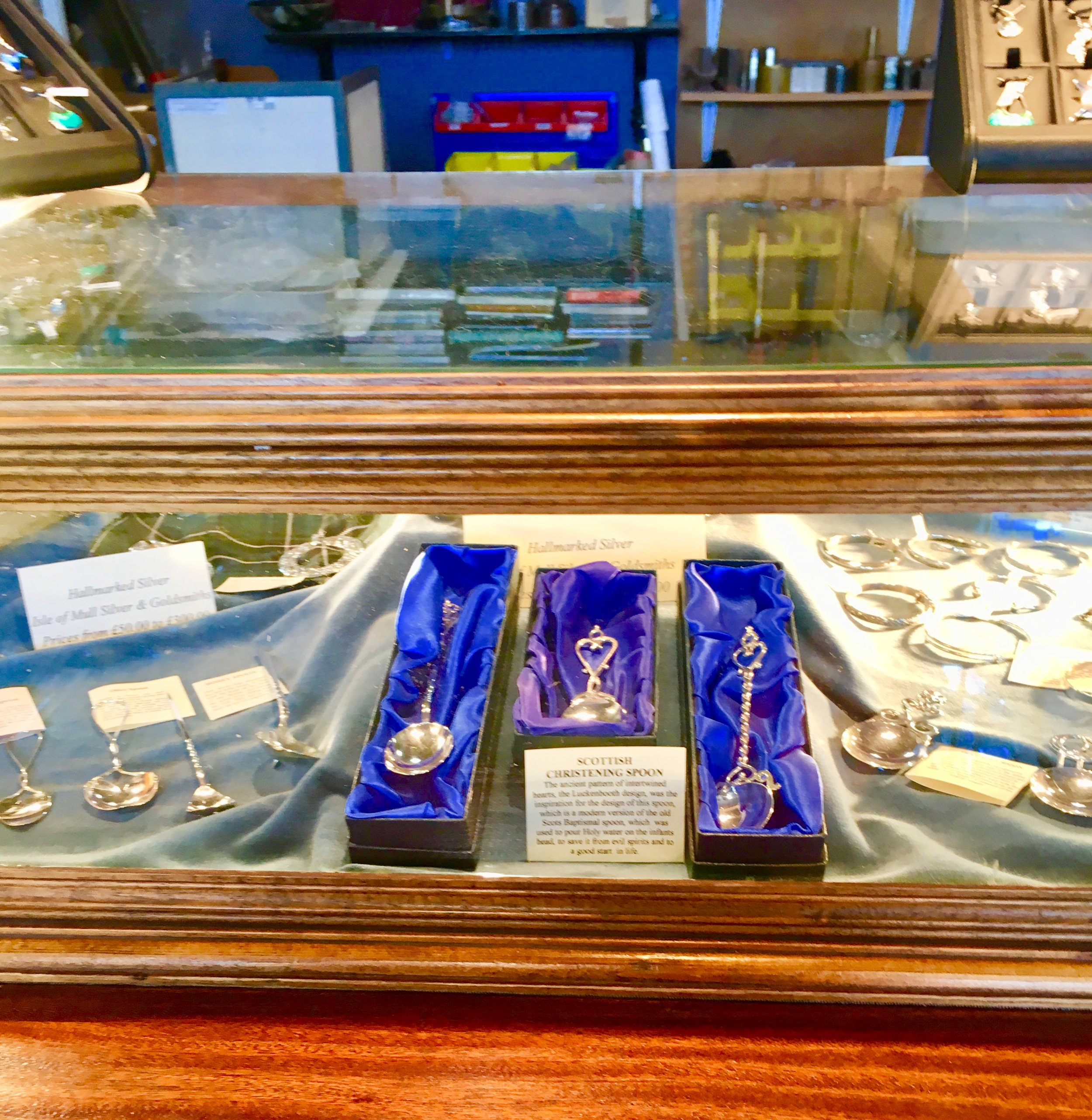 The shop also offers a wide selection of traditional silver spoons.